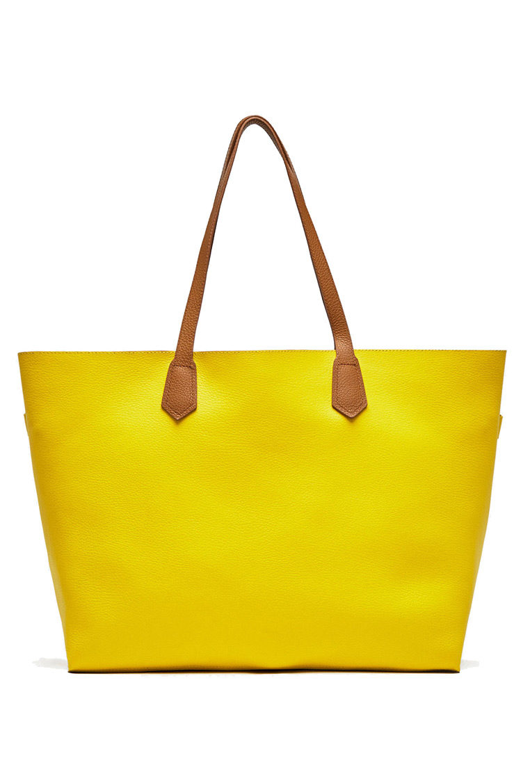 Yellow two-tone tote 1