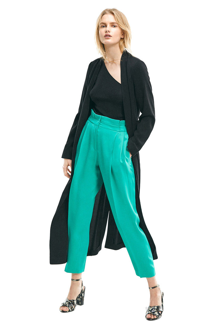 Green Wide-leg Trousers 1